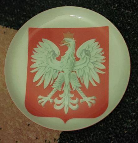 Talerz z orłem Godłem porcelana Karolina lata 90 Godło Polski