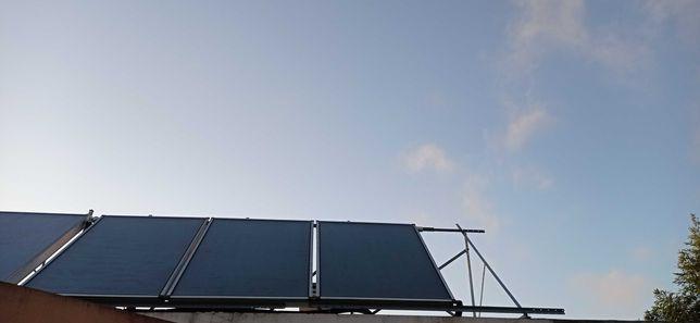 3 painéis AQS + Bailarina em INOS 300L+ controlador solar