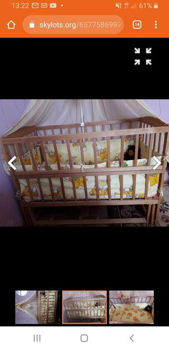 Детская кроватка-маятник деревянная Киев - изображение 1