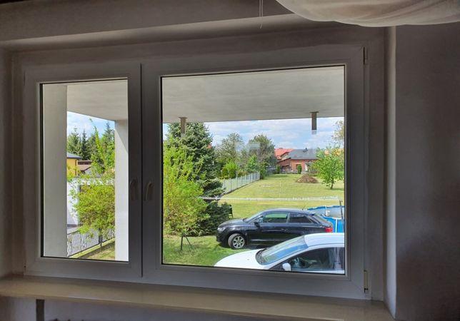 Okno plastikowe PCV o wymiarach 200 cm. x 137 cm. stan idealny