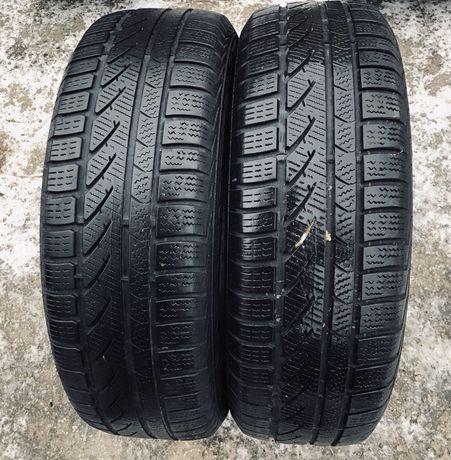 Continental 195/65r15 2 шт зима резина шины б/у склад