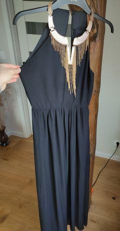 Długa czarna suknia maxi H&M