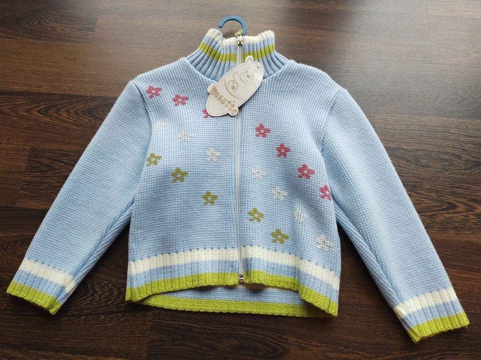 Sweterek sweter rozpinany 104 110 cieply Oborniki - image 1