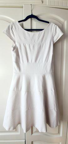 Sukienka koktajlowa, biała Banana Republic r.38