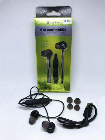 Auriculares bluetooth desportivos com microfone integrado