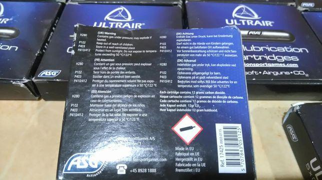 NOWE : ULTRAIR Kapsuła nabój ASG CO2 Czyszcząca konserwuje 5 szt. 1742