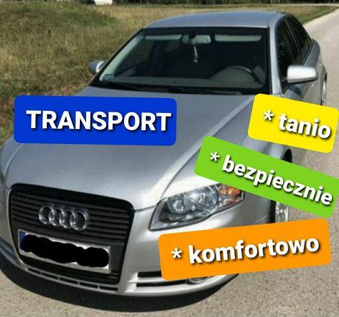 Transport lotnisko Okęcie Modlin - Białystok przewóz osób, przesyłek