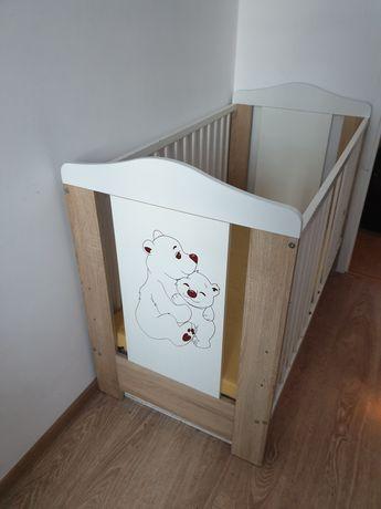 Łóżeczko drewniane 120 x 60