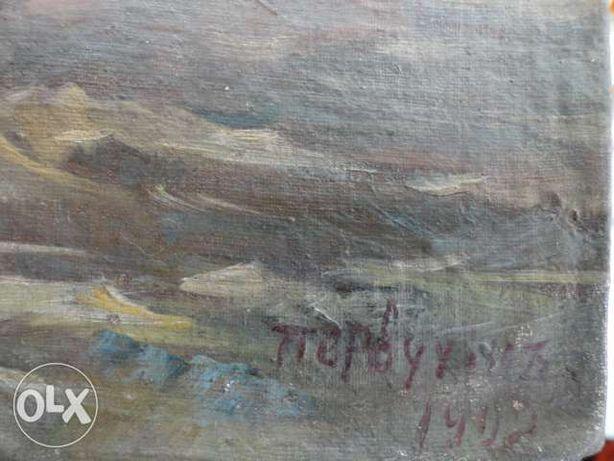 картина маслом 25 х 30см. маслом, на холсте год- 1902 и подпись автора