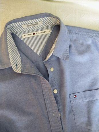 Tommy Hilfiger koszula niebieska pastelowa