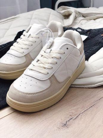Кожанные кросовки zara