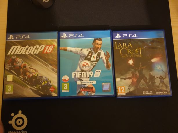 Gry PS4, FIFA, MotoGP 18, Lara Croft