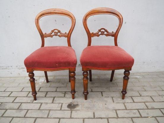 Antyczny komplet 2 krzeseł ludwikowskich 194