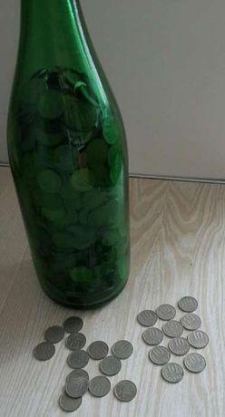 Бутылка с монетами СССР