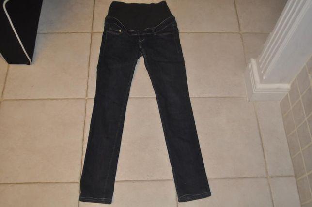 Granatowe dżinsy ciążowe H&M rozmiar 36
