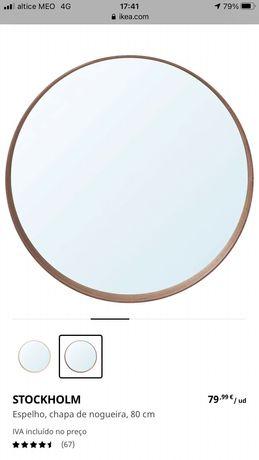 Espelho Redondo Ikea - StockHolm - Como novo!
