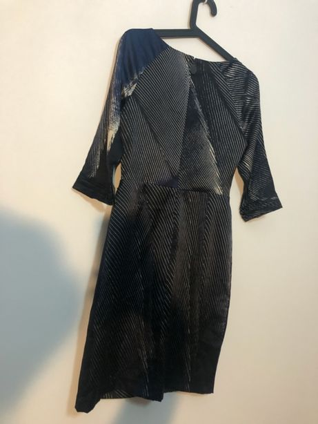 Granatowa Sukienka Tahari