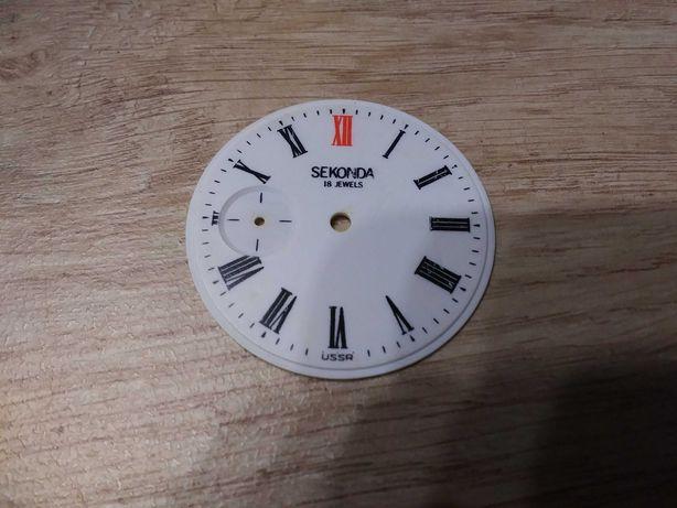 Stara tarcza do zegarka kieszonkowego Sekonda Mołnia cyferblat USSR