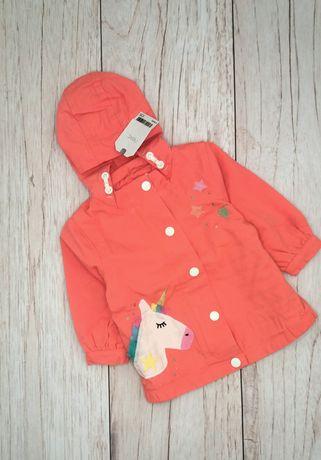 Куртка ветровка next на девочку 6-9 месяцев