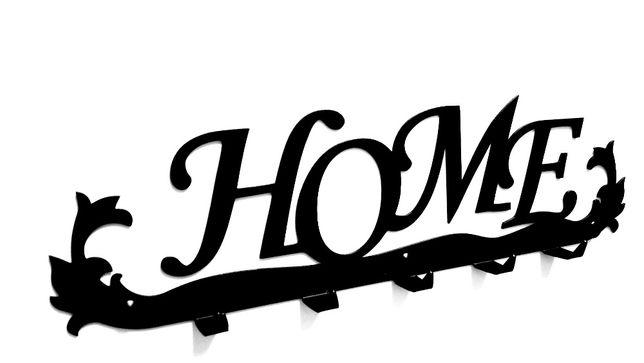 Metalowy wieszak na ubrania Wieszak na klucze Wieszak ścienny HOME