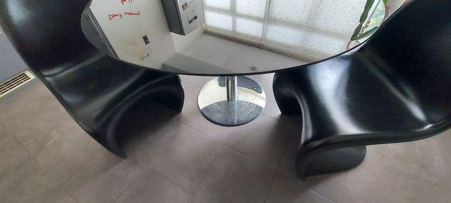 Mesa cozinha  tampo vidro e 4 cadeiras