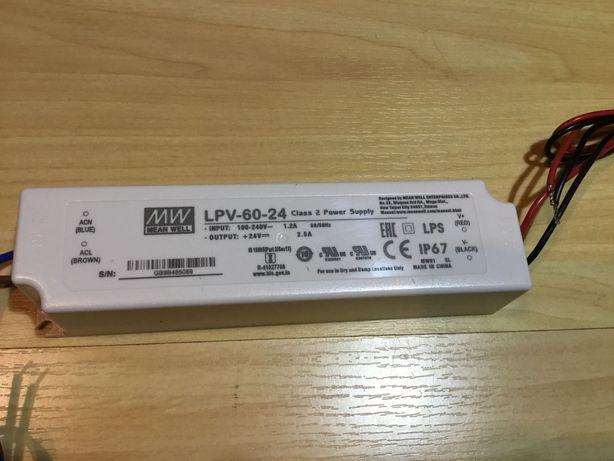 Fonte de alimentação para LED Mean Well 24V