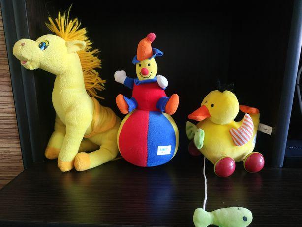 Уточка- каталка, лошадка музыкальная, клоун - неваляшка