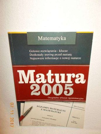 Matematyka-matura 2005,wyd.GREG,Kraków