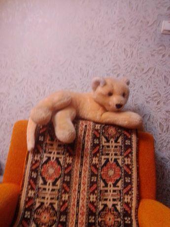 Мягкая игрушка,лев,бежевого цвета