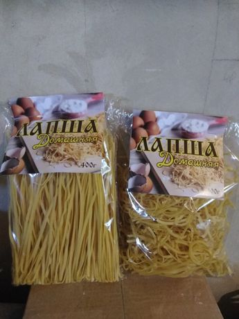 Домашняя лапша с твердых сортов пшеницы