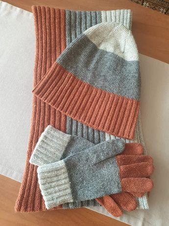 Komplet: czapka, szalik i rękawiczki