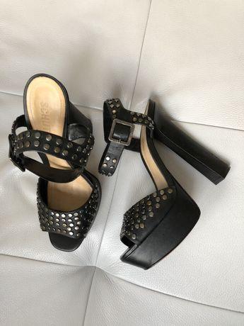 Новые! Кожаные босоножки на каблуке Schutz (100% оригинал)