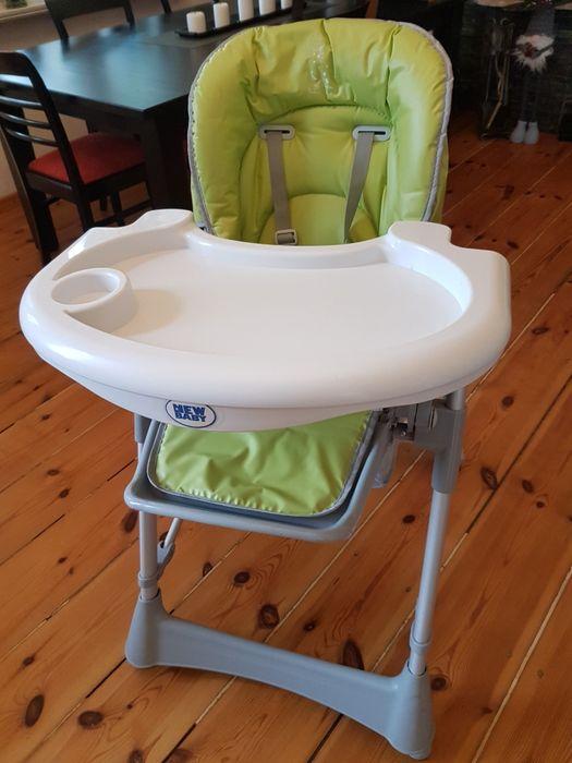 Krzesełko do karmienia New baby zielone Gdańsk - image 1