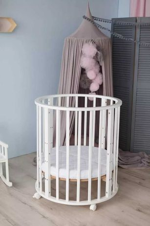 Ліжко-колиска дитяча овальна 8 в 1 Smart Bed