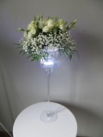 Led dekoracja podświetlenie pod wazon, lampka wodna