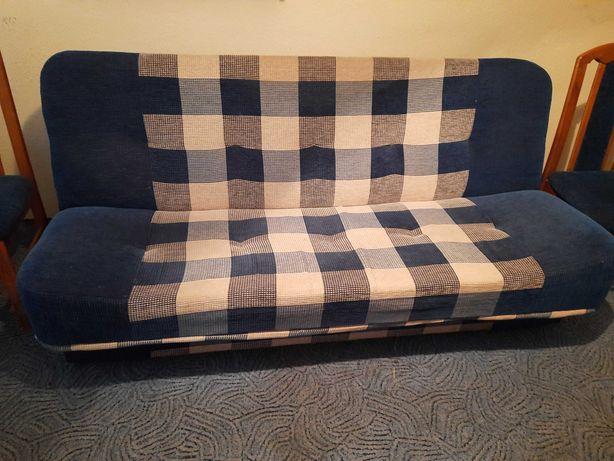 KOMPLET -kanapa, fotele, krzesła, stół