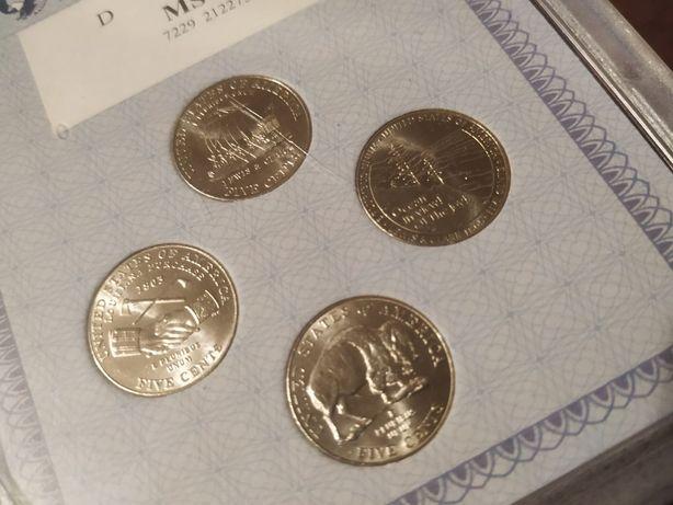 Набор 5 центов США