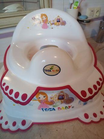 Накладка для унитаза с подставкой,  накладка для унітаза дитяча