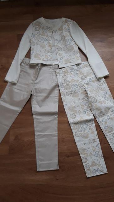 Zestaw żakiet i dwie pary spodni nowe bez metki 152