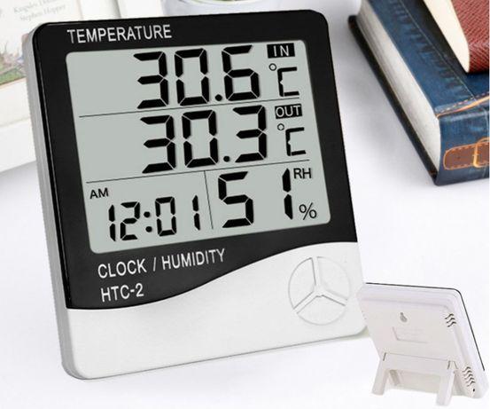 Термометр - гигрометр цифровой часы Beluck htc-2 с выносным датчиком 1