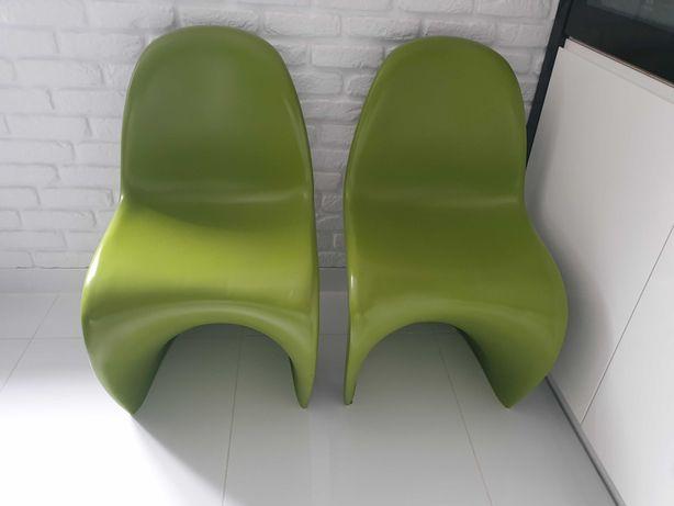 Krzesła Panton zielony mat
