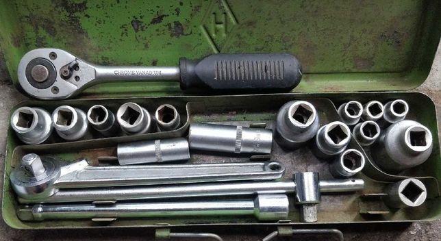 Набор инструментов с трещёткой головки СССР качество металла советское