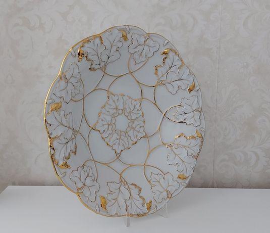 Miśnia Meissen porcelanowa patera, talerz, złoto!