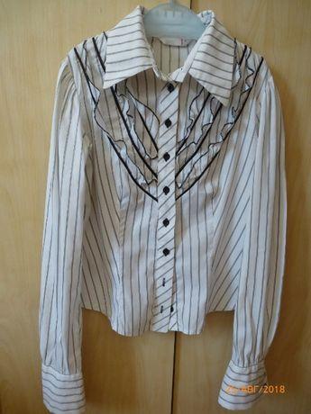 Рубашка белая в полоску размер 38, отл сост.
