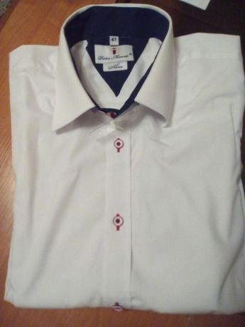 Koszula elegancka męska biała