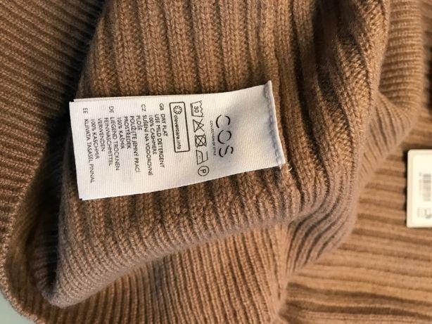 Cos cashmere jumper camel 100% kaszmir oversize