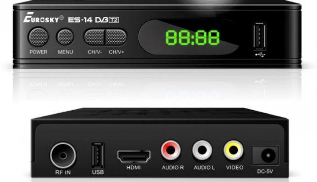 Цифровой эфирный ресивер Eurosky ES-14 DVB-T2 Новый