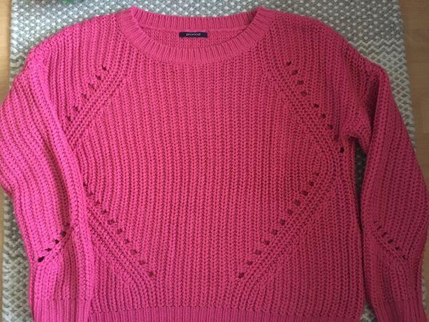 Różowy sweter Promod S