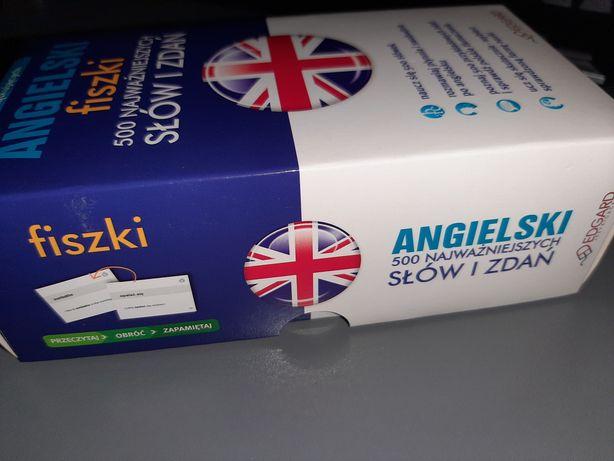 Kurs Angielskiego nauka język Angielski FISZKI Angielskie 500 zwrotów
