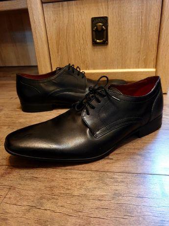 ( НОВЫЕ ) классические кожанные чёрные туфли Next (EUR 44/UK 10/US 11)